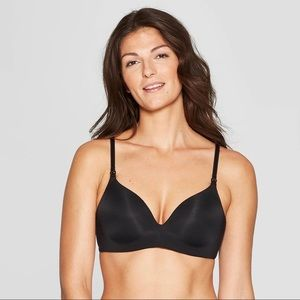 Auden Women's Size 34C Black Wirefree Nursing Bra
